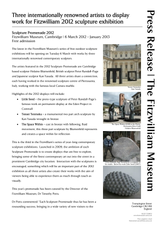 Press Release | The Fitzwilliam Museum