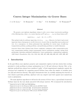 Convex Integer Maximization via Graver Bases