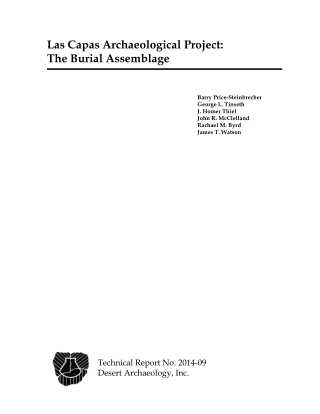 Las Capas Archaeological Project: The Burial Assemblage