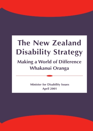 The New Zealand Disability Strategy