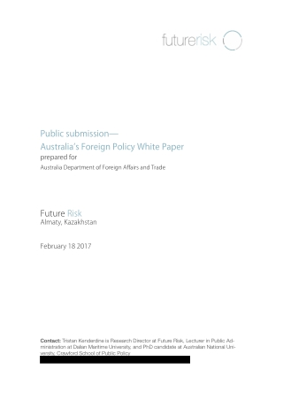 Public submission— Australia's Foreign Policy White Paper