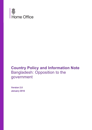Country Policy and Information Note