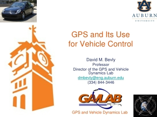 GPS and Its Use for Vehicle Control