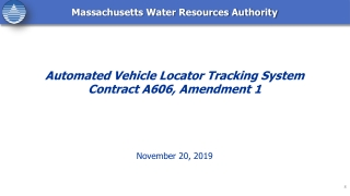 Automated Vehicle Locator Tracking System Contract A606, Amendment 1