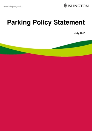 Parking Policy Statement