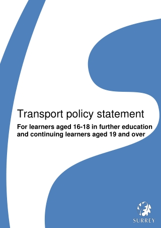 Transport policy statement