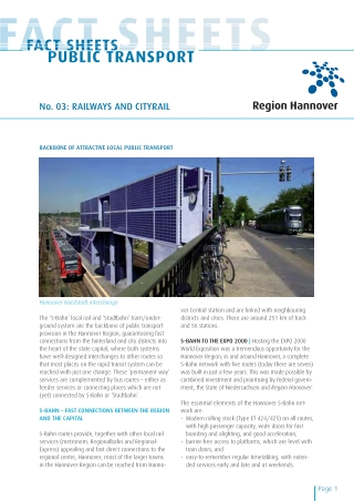FACT SHEETS PUBLIC TRANSPORT CT SHEETS FACT SHEETS FACT SHEETS