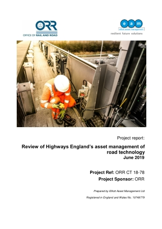 Review of Highways England's asset management of