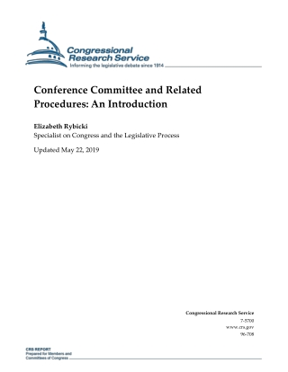 Conference Committee and Related Procedures: An Introduction