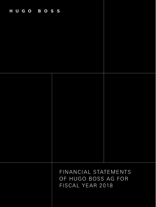 FINANCIAL STATEMENTS OF HUGO BOSS AG FOR FISCAL YEAR 2018