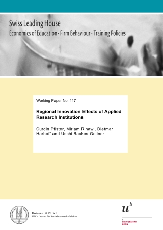 Regional Innovation Effects of Applied Research Institutions