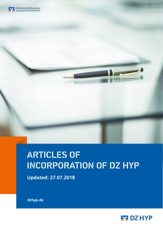 ARTICLES OF INCORPORATION OF DZ HYP