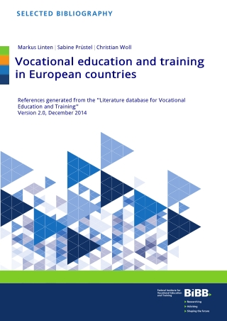 Vocational education and training in European countries