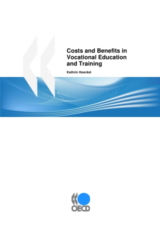 Costs and Benefits in Vocational Education and Training