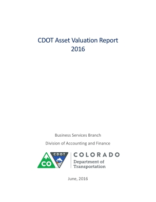 CDOT Asset Valuation Report 2016