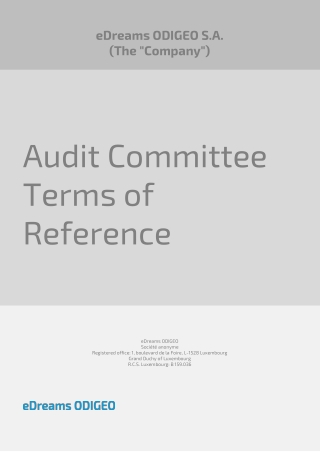 Audit Committee Terms of Reference