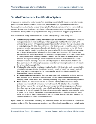 So What? Automatic Identification System