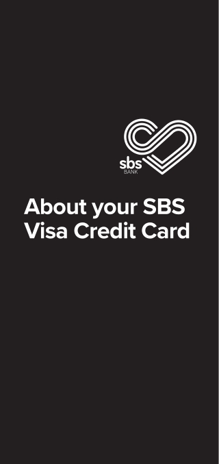 About your SBS Visa Credit Card