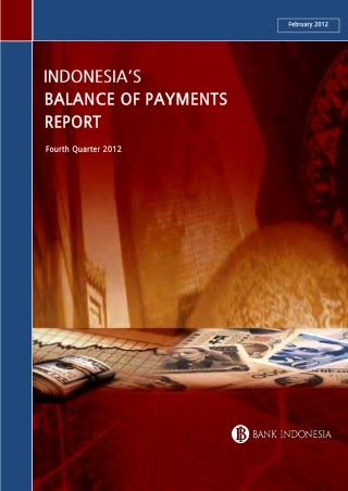 BALANCE OF PAYMENTS BALANCE OF PAYMENTS REPORT REPORT