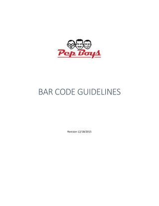 BAR CODE GUIDELINES