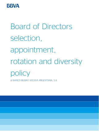 Board of Directors selection, appointment, rotation and diversity policy