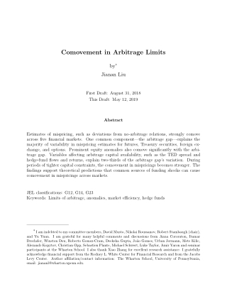 Comovement in Arbitrage Limits