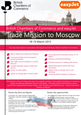 Trade Mission to Moscow