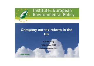 Company car tax reform in the UK