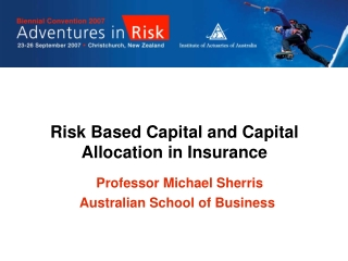 Risk Based Capital and Capital Allocation in Insurance