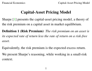 Capital-Asset Pricing Model