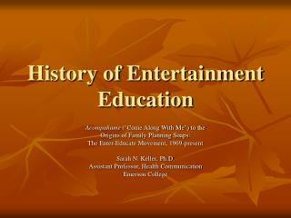 History of Amusement Instruction