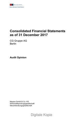 Consolidated Financial Statements as of 31 December 2017