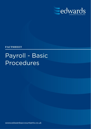 Payroll - Basic Procedures
