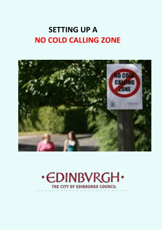 SETTING UP A NO COLD CALLING ZONE