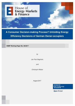 A Consumer Decision-making Process? Unfolding Energy Efficiency Decisions of German Owner-occupiers
