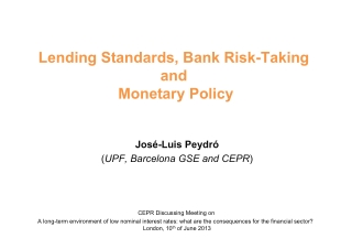 Lending Standards, Bank Risk-Taking and Monetary Policy