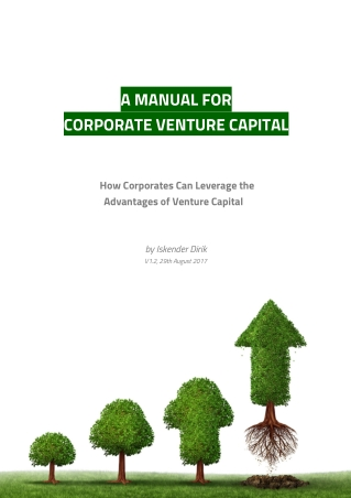 A MANUAL FOR CORPORATE VENTURE CAPITAL