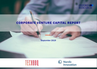 CORPORATE VENTURE CAPITAL REPORT