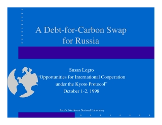 A Debt-for-Carbon Swap for Russia