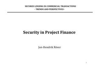 Security in Project Finance