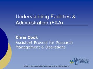 Understanding Offices and Organization (F&A)