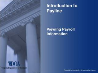 Prologue to Payline Seeing Finance Data