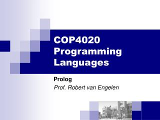 COP4020 Programming Dialects