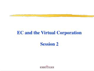 EC and the Virtual Organization Session 2