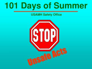 101 Days of Summer USAMH Wellbeing Office