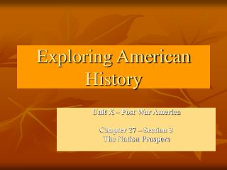 Investigating American History