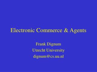 Electronic Trade and Operators