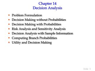 Section 14 Choice Examination