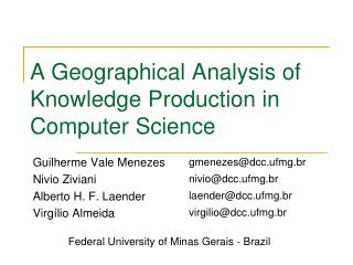 A Topographical Investigation of Information Generation in Software engineering