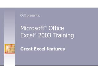 Microsoft ® Office Exceed expectations ® 2003 Preparing